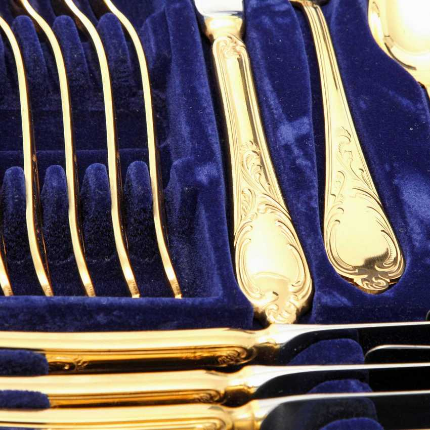 SOLINGEN Cutlery set for 12 persons, gold-plated tungsten, 20. Century - photo 3