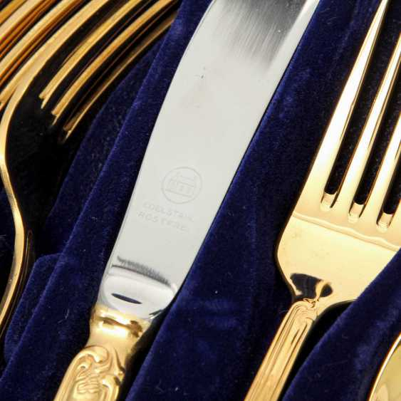 SOLINGEN Cutlery set for 12 persons, gold-plated tungsten, 20. Century - photo 1