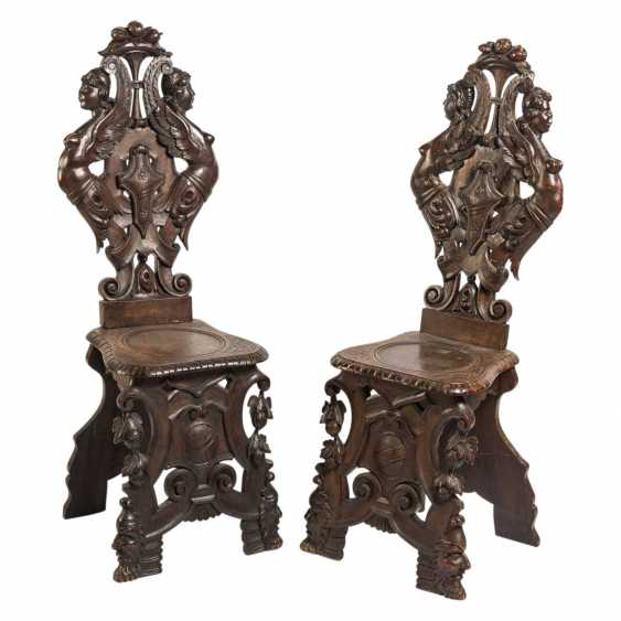 "1 PAIR OF CHAIRS SUCTION. ""SGABELLI"" - photo 1"