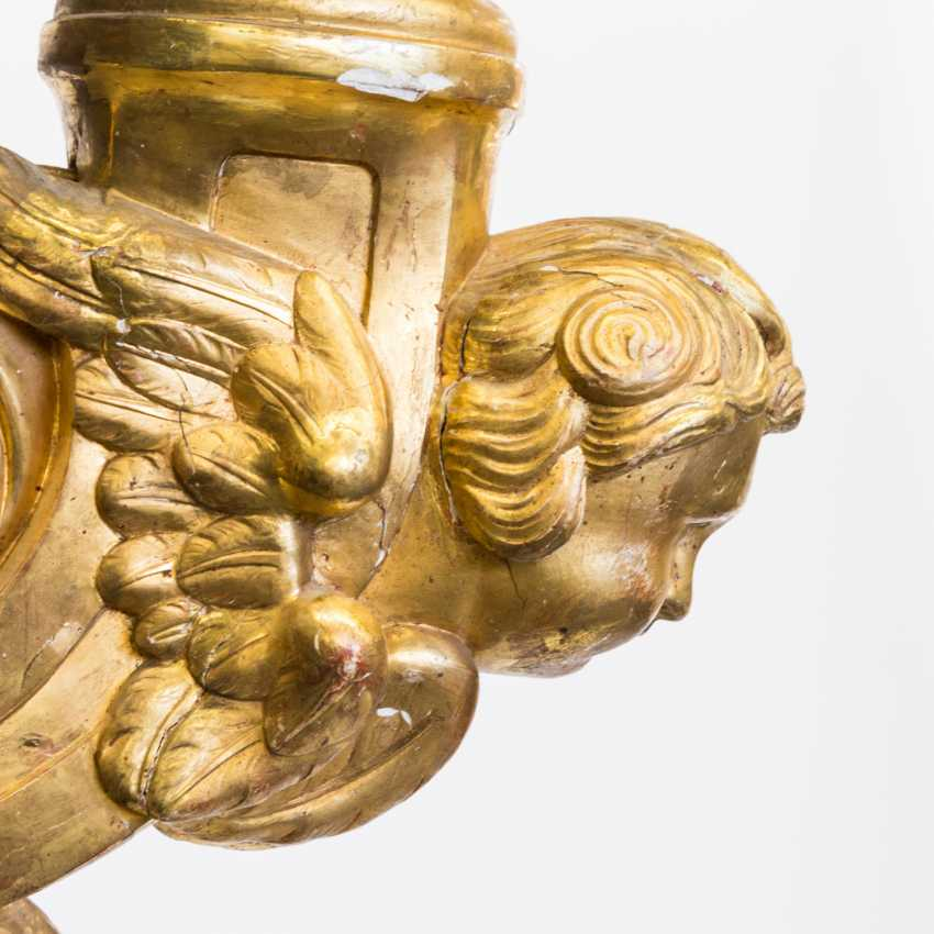 WOOD CARVED WALL SCONCES IN THE BAROQUE STYLE - photo 3
