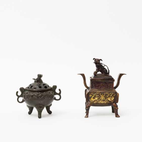 CHINA 2 incense burner, 20. Century - photo 1