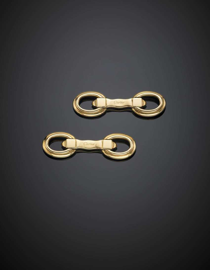 CARTIER | Yellow gold cufflinks - photo 1