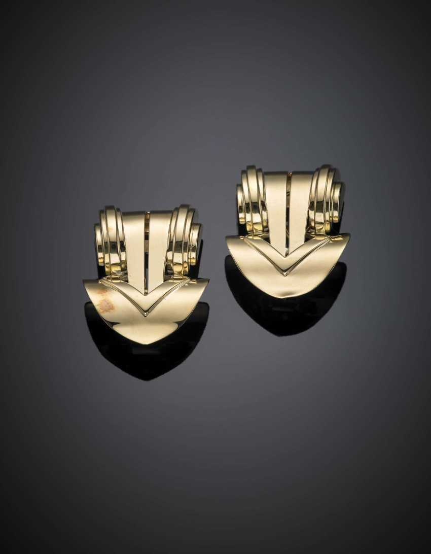 Gelbgold Scroll Ohrclips - Foto 1