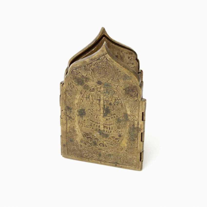 Travel folding altar made of brass. RUSSIA, 19th century. Century - photo 5