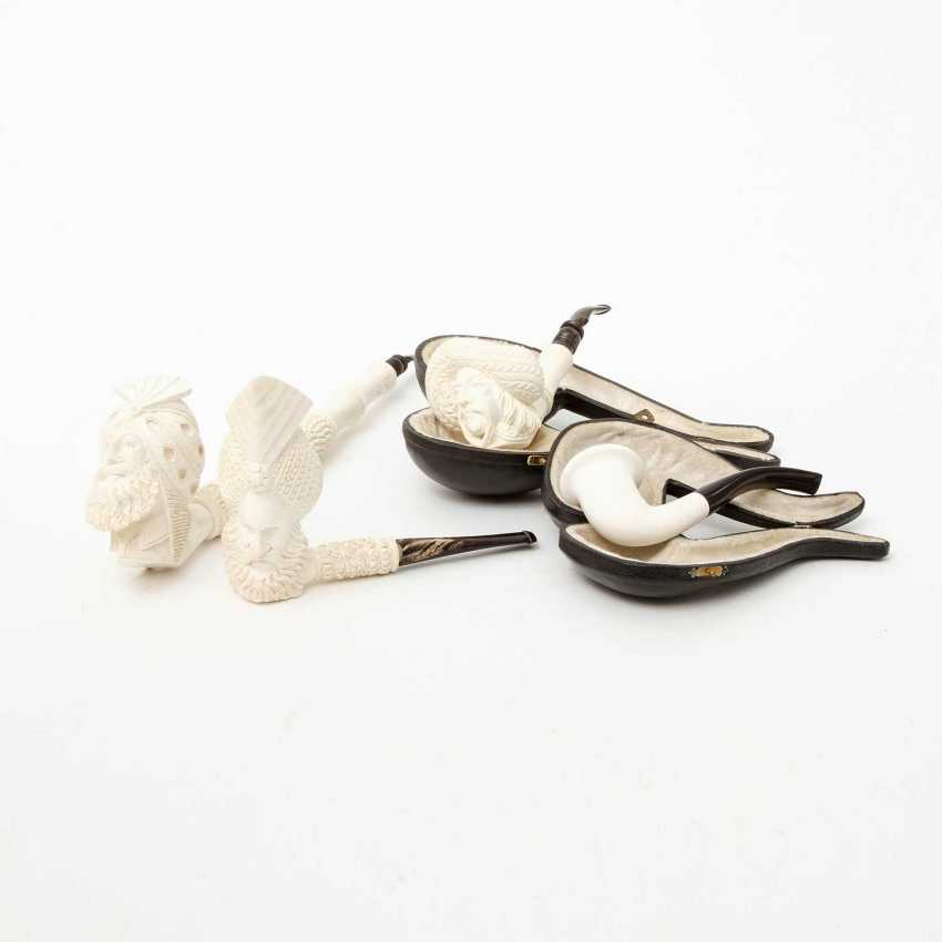 FOUR MEERSCHAUM PIPES - photo 1