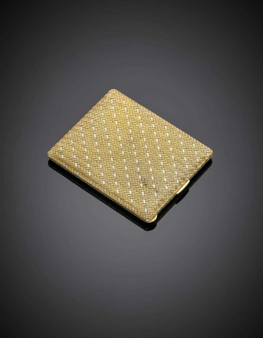 Bi-coloured gold cigarette case - photo 2