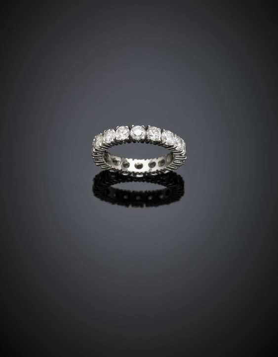 Colourless stone white gold eternity ring - photo 1