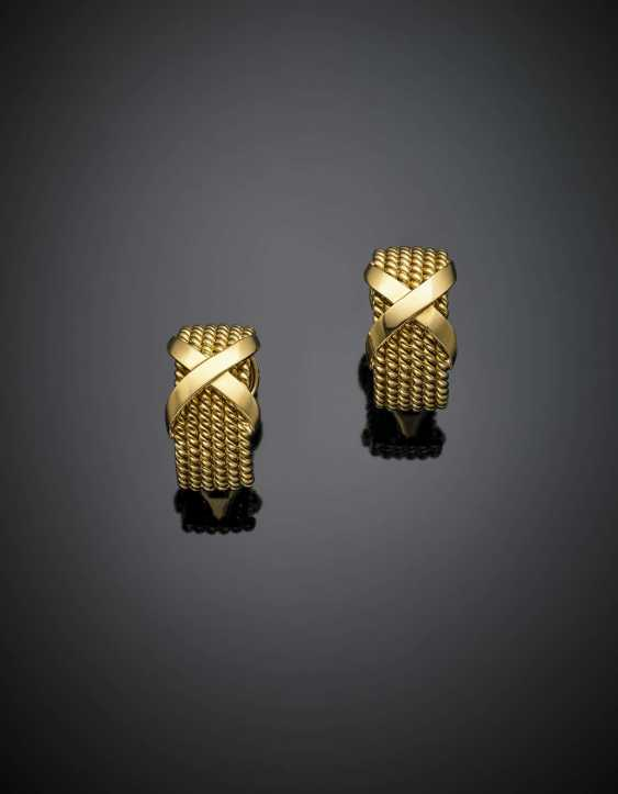 SCHLUMBERGER - TIFFANY & CO | Yellow gold rope and ribbon earclips - photo 1