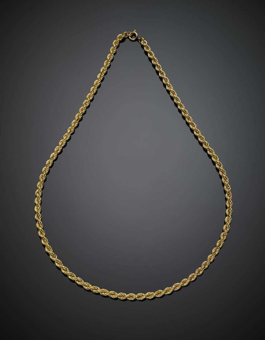 Yellow gold torchon necklace - photo 1