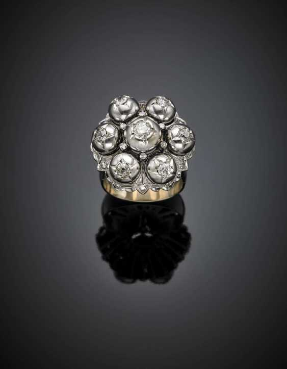 White gold diamond ring in all ct. 1.30 circa - photo 1