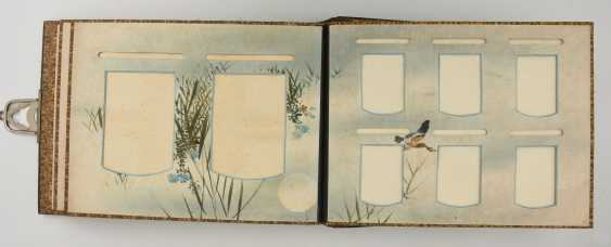 Photo album, matte black/limestone/mother of pearl/silk/fathers, China, around 1920 - photo 7