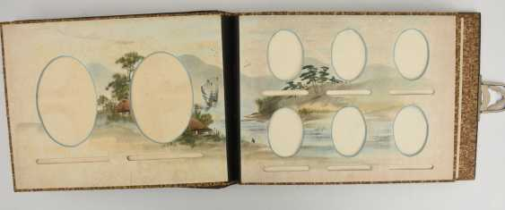 Photo album, matte black/limestone/mother of pearl/silk/fathers, China, around 1920 - photo 8