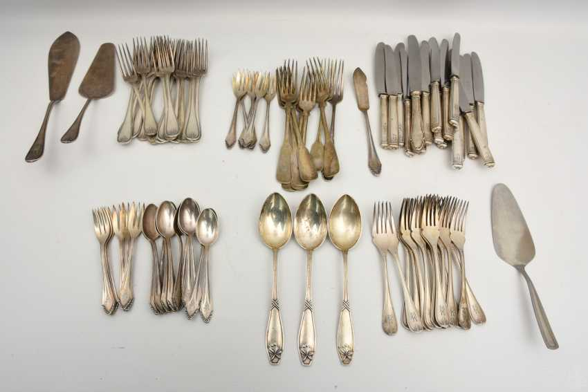 CHRISTOFLE etc., CUTLERY-VINTAGE-silver/part silver, marked, signed with monogram, 1. Half of the 20. Century - photo 1