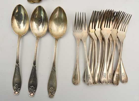CHRISTOFLE etc., CUTLERY-VINTAGE-silver/part silver, marked, signed with monogram, 1. Half of the 20. Century - photo 3