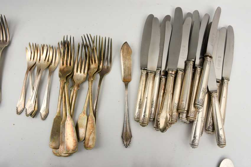 CHRISTOFLE etc., CUTLERY-VINTAGE-silver/part silver, marked, signed with monogram, 1. Half of the 20. Century - photo 4
