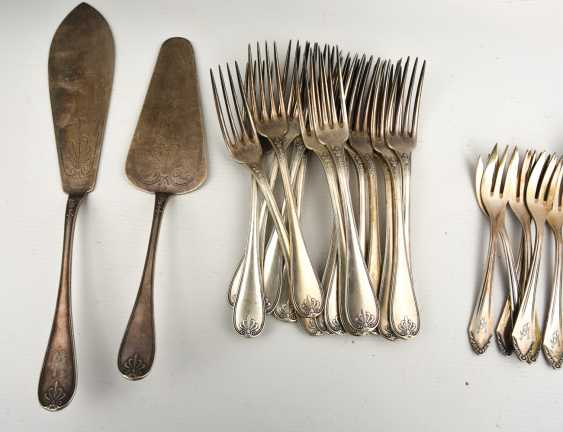 CHRISTOFLE etc., CUTLERY-VINTAGE-silver/part silver, marked, signed with monogram, 1. Half of the 20. Century - photo 5