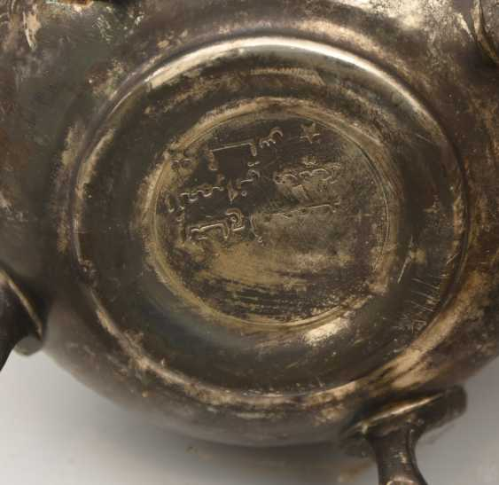 GROUP of ARAB decorative objects, brass/Nickel/wood carved and partly chased/, Orient 20. Century - photo 9