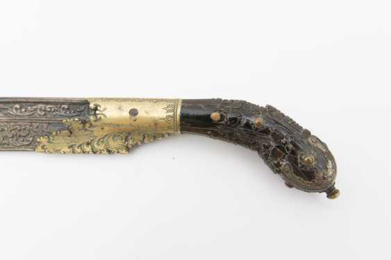 KNIFE, chased and gilt, Sri Lanka 19. Century - photo 2