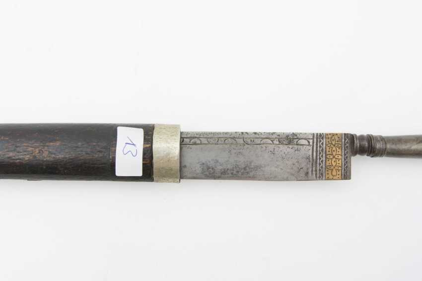 Long-knife WITH metal handle, steel/wood/iron 1900's - photo 3