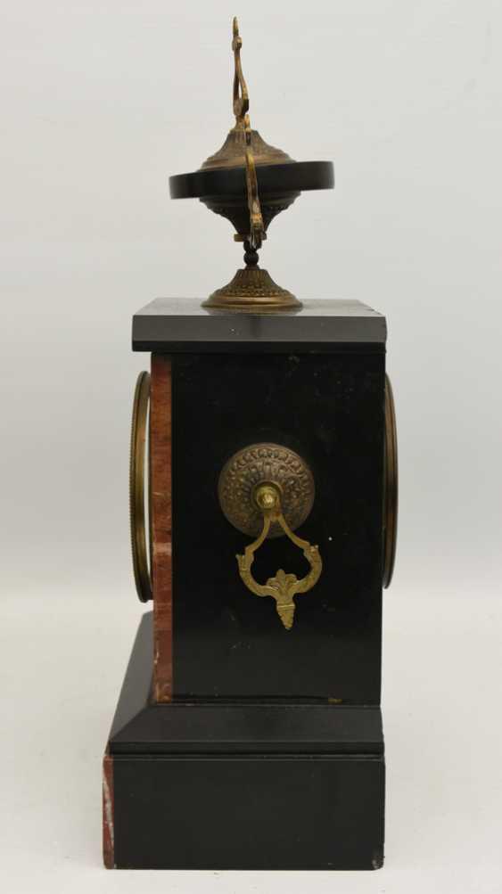 Mantel clock, Empire style, marble/glass/metal, France 20. Century - photo 6