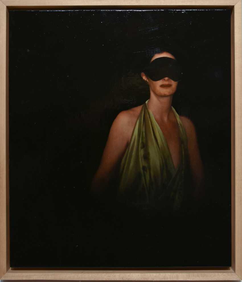 "JOCHEN GÖRLACH:""untitled"", Oil on wood, framed, 2013 - photo 1"