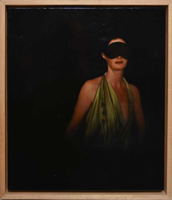 "JOCHEN GÖRLACH:""untitled"", Oil on wood, framed, 2013 - photo 2"