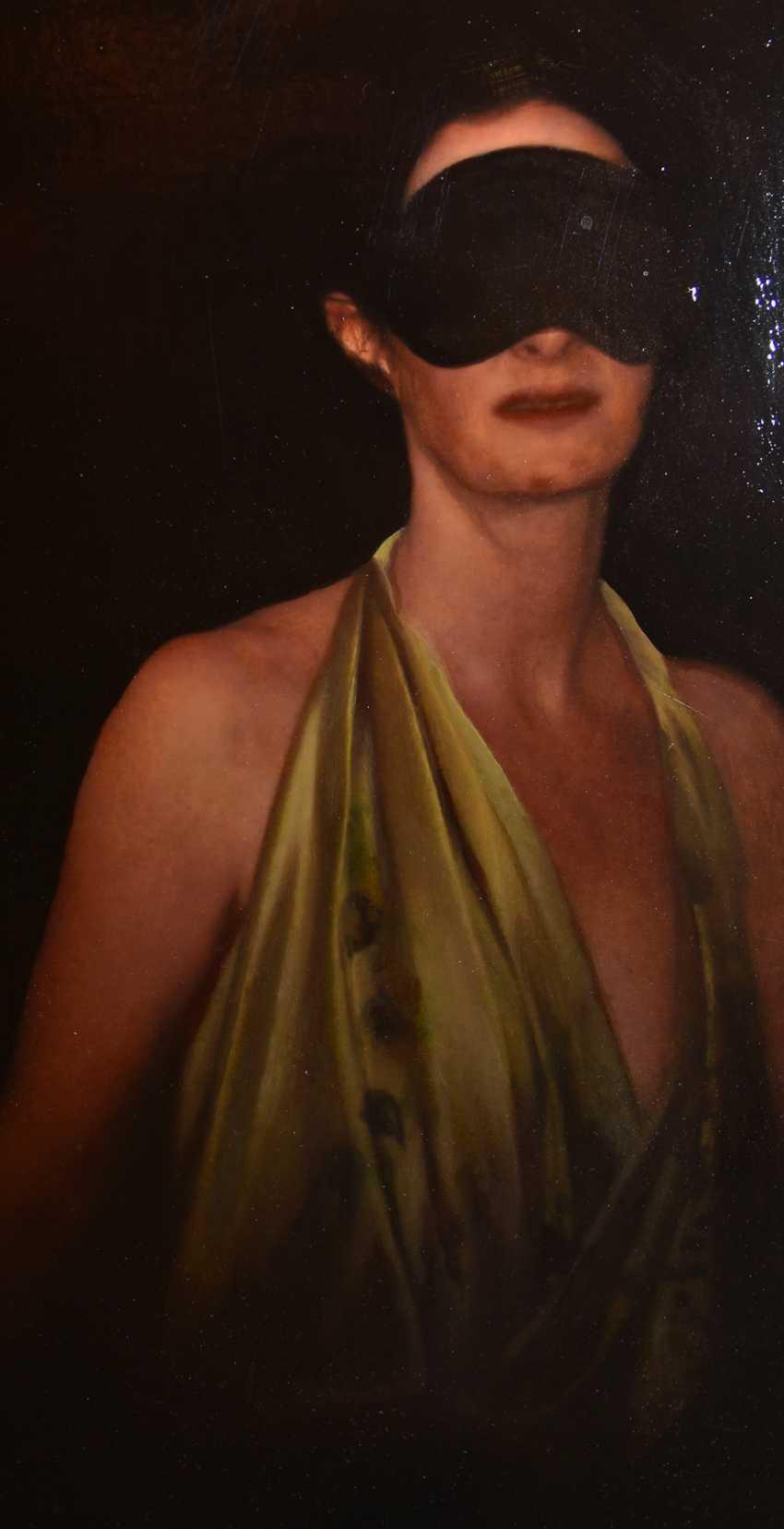 "JOCHEN GÖRLACH:""untitled"", Oil on wood, framed, 2013 - photo 3"