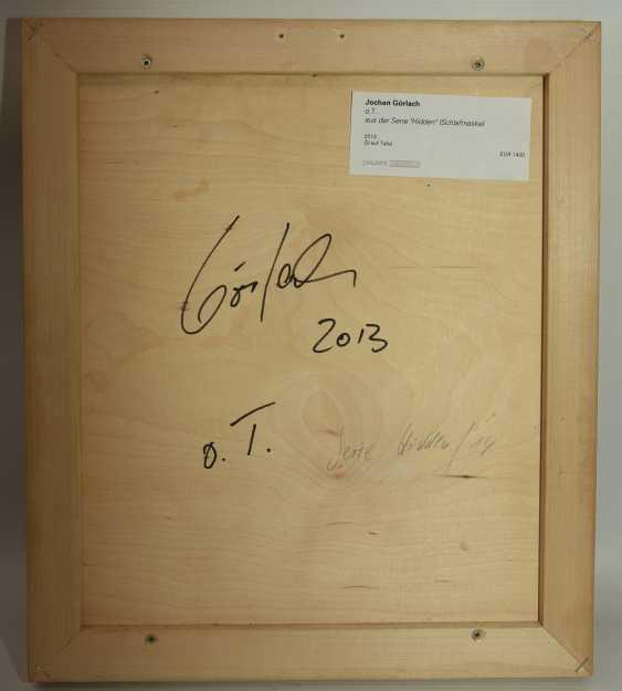 "JOCHEN GÖRLACH:""untitled"", Oil on wood, framed, 2013 - photo 5"