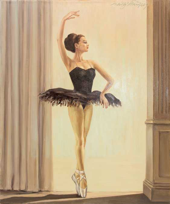 """WILLY KRAUSS:""""Prima Ballerina"""", Oil on Canvas, signed and dated - photo 1"""