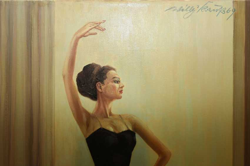 """WILLY KRAUSS:""""Prima Ballerina"""", Oil on Canvas, signed and dated - photo 2"""