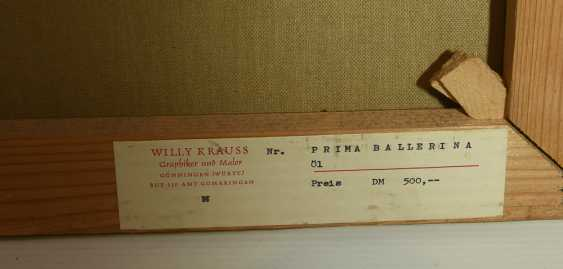 """WILLY KRAUSS:""""Prima Ballerina"""", Oil on Canvas, signed and dated - photo 4"""