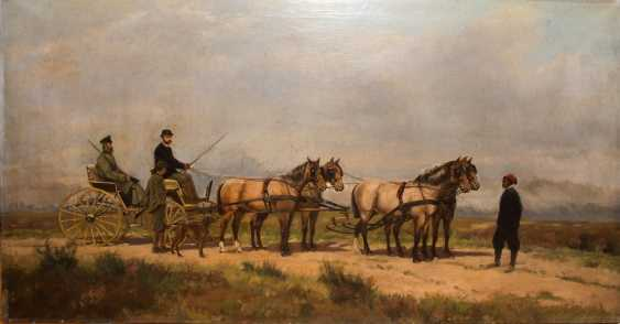 """ARTHUR VON EPPINGHOVEN: """"Leopold II of Belgium"""", Oil on canvas, signed and dated - photo 1"""