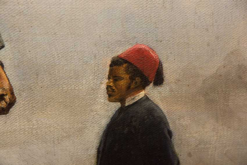 """ARTHUR VON EPPINGHOVEN: """"Leopold II of Belgium"""", Oil on canvas, signed and dated - photo 6"""