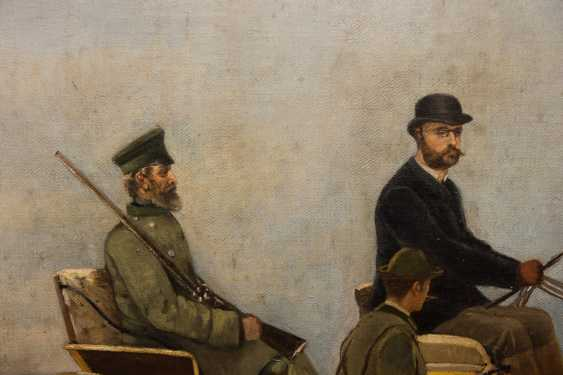 """ARTHUR VON EPPINGHOVEN: """"Leopold II of Belgium"""", Oil on canvas, signed and dated - photo 7"""