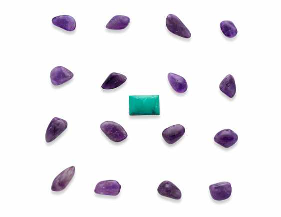 NO RESERVE UNMOUNTED RUBIES, AMETHYSTS AND TURQUOISE - photo 2