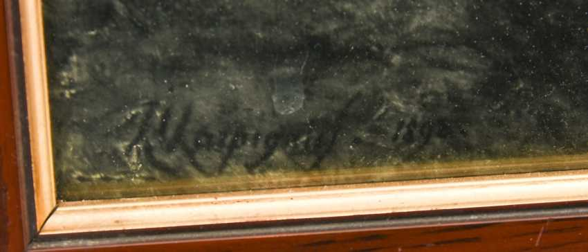 Fine art print, behind glass framed, 1890s - photo 2