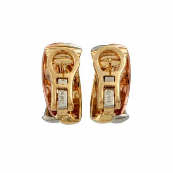 Pair of half hoop earrings with diamonds - photo 2