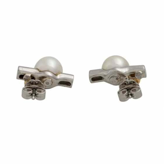 Stud earrings with diamonds, together approx. 0.1 ct - photo 2