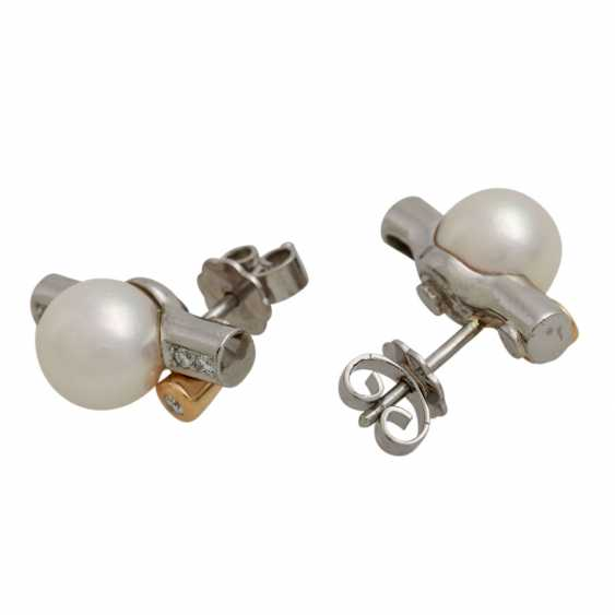 Stud earrings with diamonds, together approx. 0.1 ct - photo 3