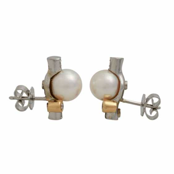 Stud earrings with diamonds, together approx. 0.1 ct - photo 4