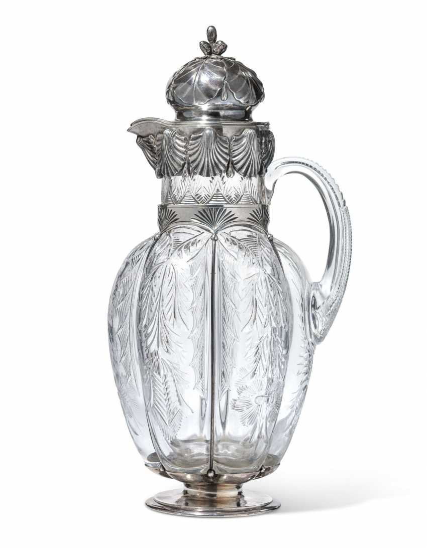 A PARCEL-GILT SILVER-MOUNTED CUT-GLASS DECANTER - photo 1