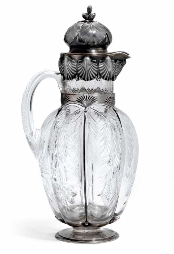 A PARCEL-GILT SILVER-MOUNTED CUT-GLASS DECANTER - photo 2