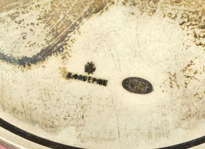 A GEM-SET SILVER-MOUNTED RHODONITE DESK BAROMETER - photo 3