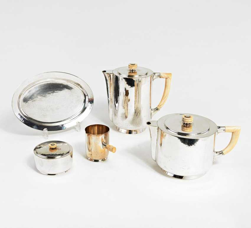 Five-piece Art Deco coffee and tea service - photo 2