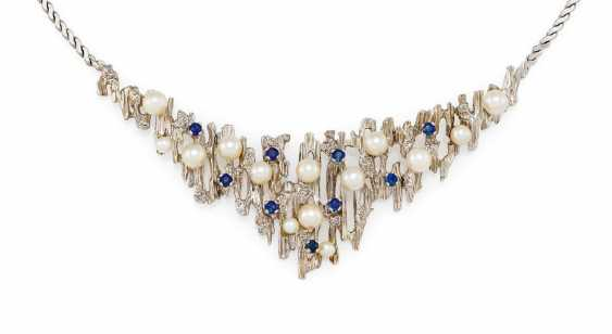Sapphire-Pearl-Necklace - photo 1