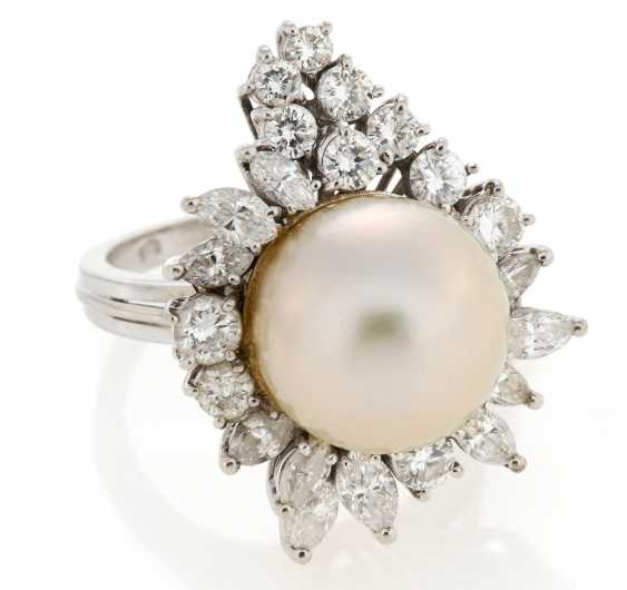 Perl-Diamant-Ring - photo 1