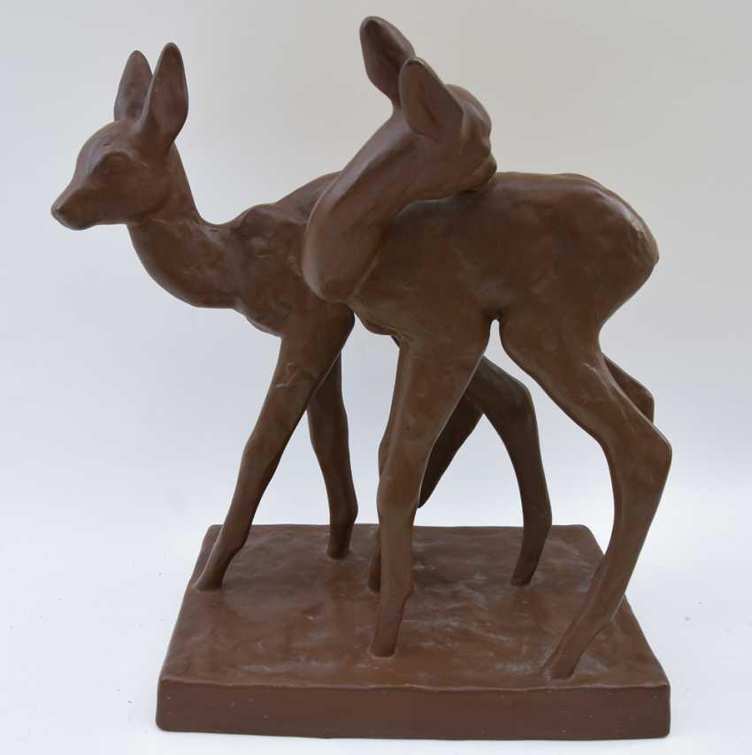Lot 603 Karlsruhe Majolica Deer Monochrome Glazed Ceramics