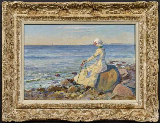 Ella, the artist's wife on Hornbaek Beach - photo 2