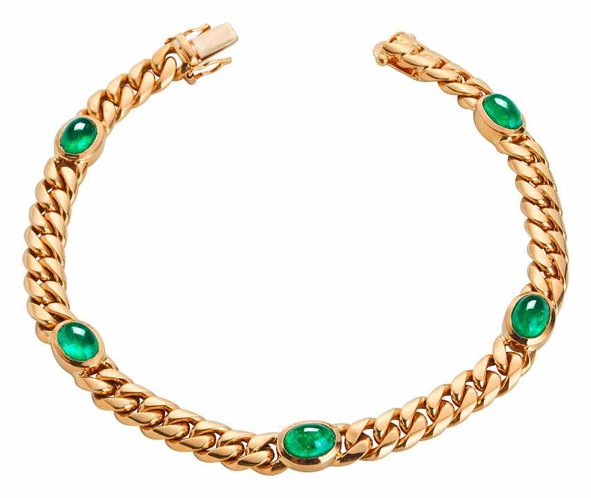 Gold bracelet with Colombian emeralds - photo 1