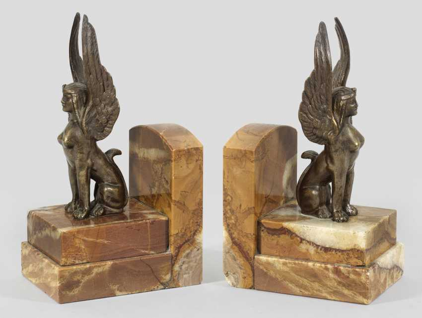 Pair of Art Deco bookends - photo 1